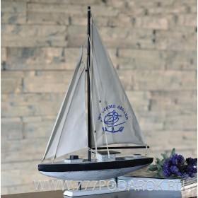 Модель яхты 64 см,  дерево, парусина