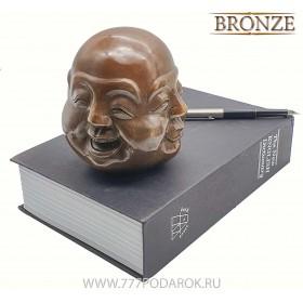 Индикатор настроения - Четыре лица Будды- бронза BIG