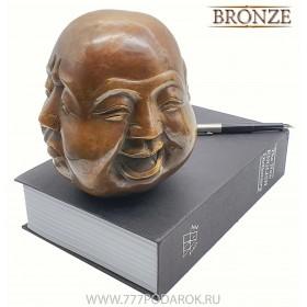Индикатор настроения - Четыре лица Будды- бронза SUPERBIG