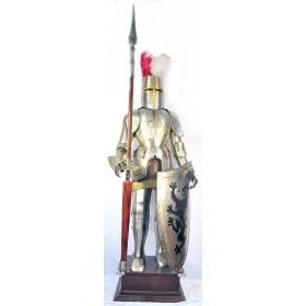 Доспехи рыцаря в полный рост  2 метра  с щитом и копьем