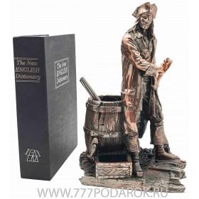 статуэтка Пират, высота 30 см, камень, металл