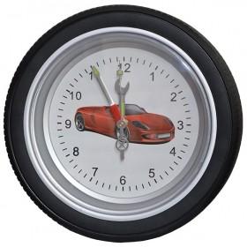 Часы колесо большие, 35 см, белый фон