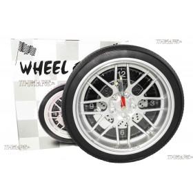 Часы колесо 35 см с подсветкой,черный циферблат
