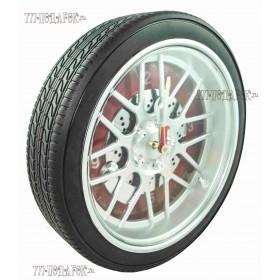 Часы колесо 35 см с подсветкой,красный циферблат