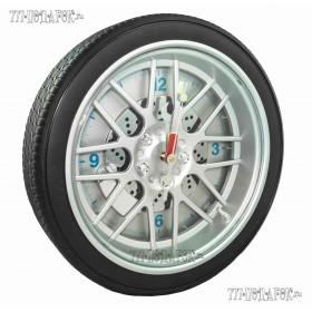 Часы колесо 35 см с подсветкой, белый фон