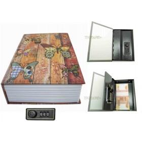 Книга сейф с кодовым замком бабочки