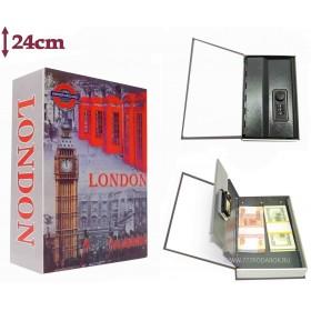 Книга сейф с кодовым замком  LONDON| 24см