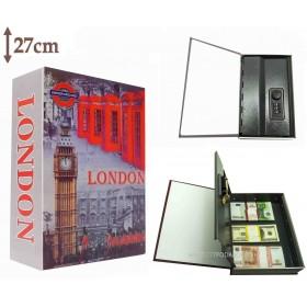 Книга сейф с кодовым замком LONDON | 27см